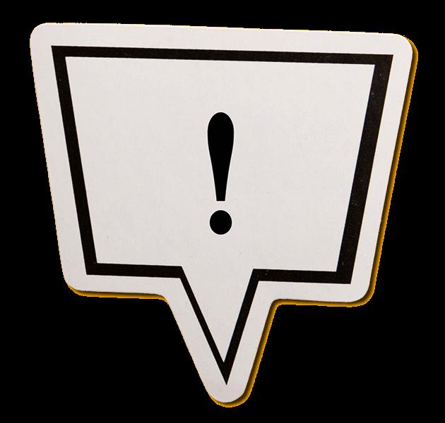 Corona Hinweis Ausrufezeichen