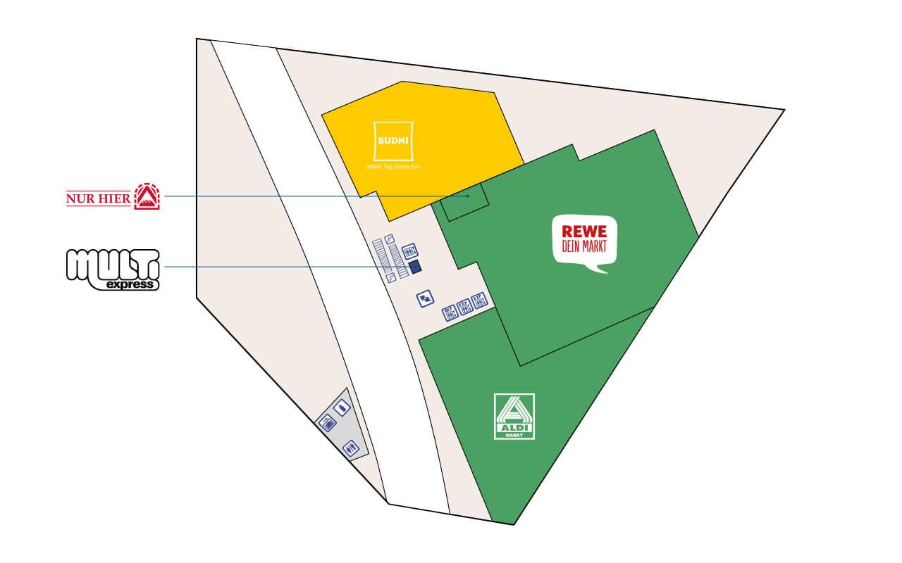 Tibarg Center Lageplan UG - Stand: Mai 2020